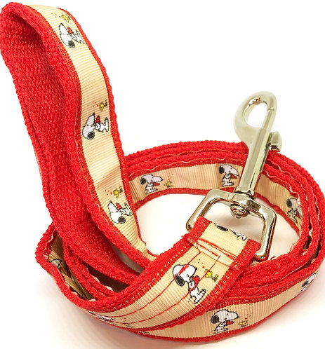 Custom Snoopy Fans Hand Made Dog Leash, Custom Snoopy Dog Collar And Leash Set, Hand Made Custom Snoopy Pet Accessories,