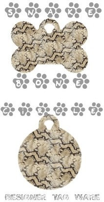 Snake Designer Tag Ware By PET TAGS DIRECT Dublin Ireland