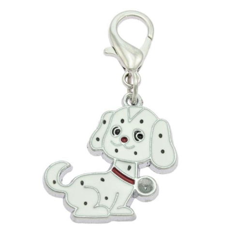 White Dog Collar Charms By PET TAGS DIRECT.ie Dublin Ireland