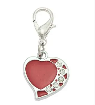 PET TAGS, COLLAR CHARMS, RED HEART