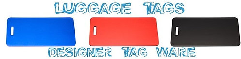 Luggage Tags By PET TAGS DIRECT Dublin Ireland Available In Crimson Cobalt Noir,
