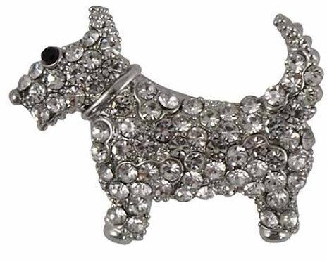 Scottish Terrier Brooch, Designer Diamante Scottish Terrier Brooch By PET TAGS DIRECT Dublin Ireland, Diamante Dog Brooch,
