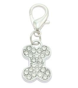 Diamante Bone Collar Charms for Dog & Cat CollarsBy PET TAGS DIRECT.ie Dublin Ireland