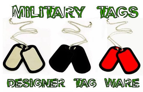 Ultimate Military Dog Tag Designer Tag Ware By PET TAGS DIRECT Dublin Ireland Available in 3 Colors WorldWide Delivery,