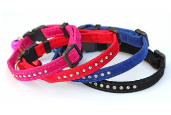 Stunning Cat Collars With Single Row Diamante By PET TAGS DIRECT Dublin Ireland