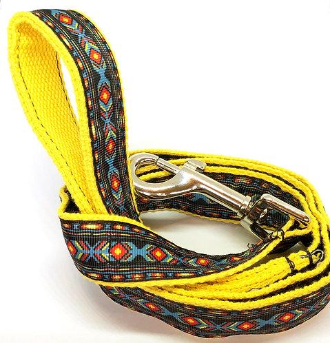 Custom Collars By PET TAGS DIRECT Dublin Ireland, Aztec Custom Dog Leash Hand Made, Artisan Aztec Dog Collars,