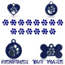 Elegance Cobalt Designer Tag Ware