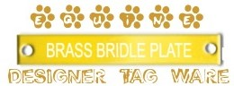 Equine Bridle Plate Designer tags