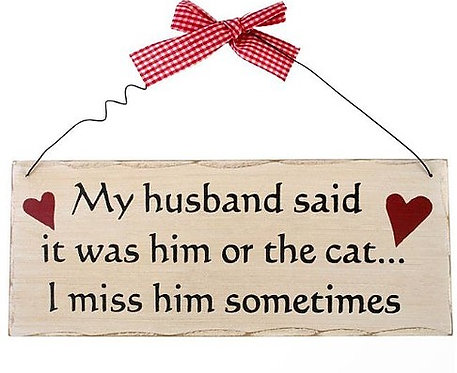 Fun Signs For Cat Owners, Custom Gifts For Cat Lovers By PET TAGS DIRECT Dublin Ireland,
