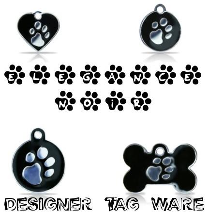 Elegance Noir Designer Tag Ware