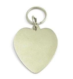 Nickel Plated Hand Stamped Heart Pet Tags By PET TAGS DIRECT.ie Dublin Ireland