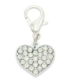 Diamante Heart Collar Charms By PET TAGS DIRECT.ie Dublin Ireland