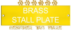 Equine Stall Plate Designer Tag Ware