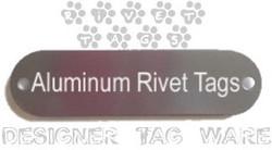 Rivet Gun Metal Designer Tag Ware