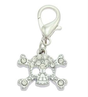 Crystal Skull Collar Charms for Dogs & Cats By PET TAGS DIRECT.ie Dublin Ireland
