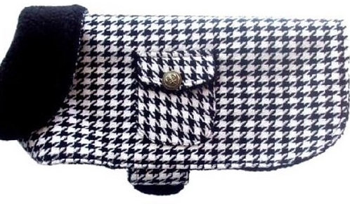 Houndstooth Dog Coat By PET TAGS DIRECT Dublin Ireland