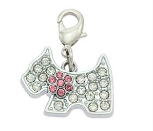 Crystal Scottie Collar Charm By PET TAGS DIRECT.ie Dublin Ireland