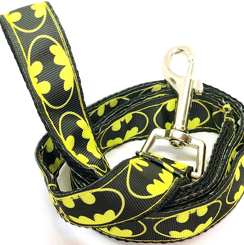 Custom Collars & Leash Direct To Your Door Batman By PET TAGS DIRECT Dublin Ireland, Batman Dog Leash, Batman DC Fans,