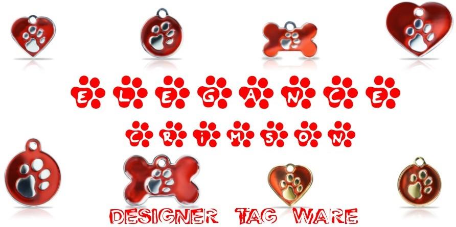 Elegance Crimson Designer Tag Ware