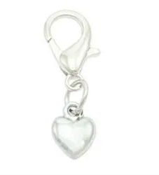Silver Heart Collar Charms By PET TAGS DIRECT.ie Dublin Ireland