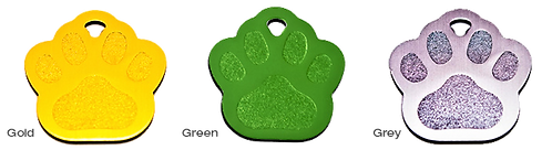 Paw Tags By PET TAGS DIRECT.ie Available in Green + 8 Other Colours