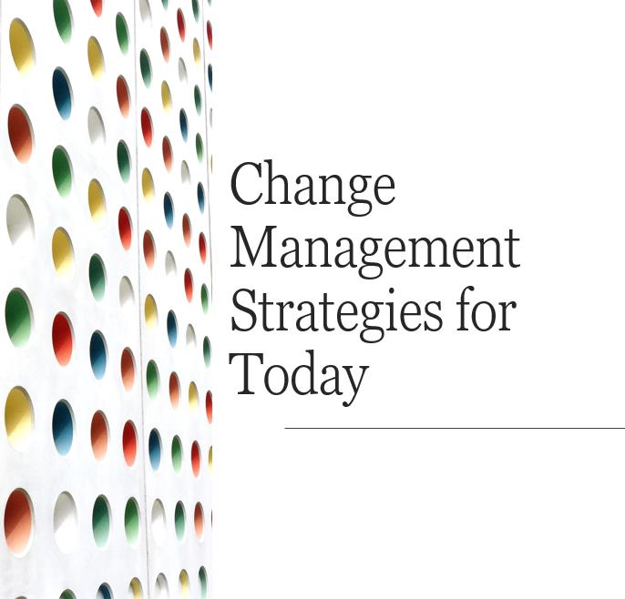 Change Management:  Session 1