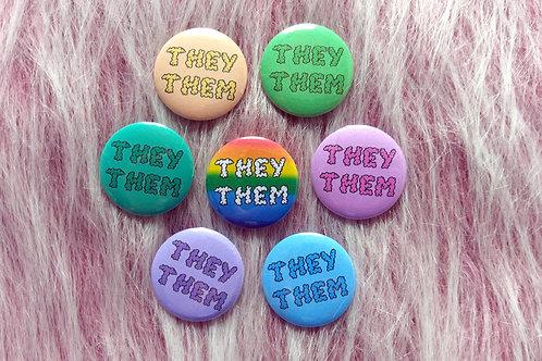 They them pronouns badge