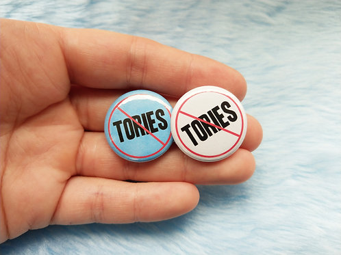 No Tories badge