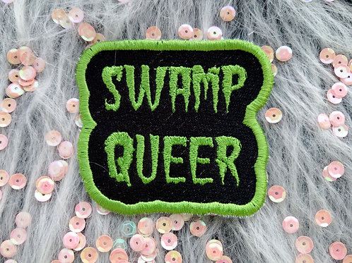 Swamp queer embroidered patch