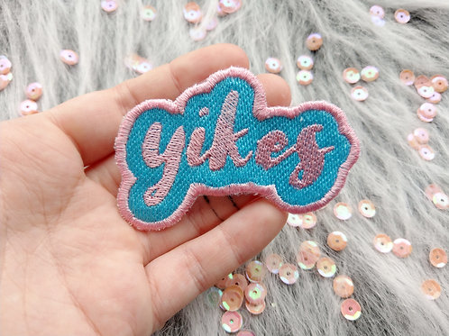 Yikes embroidered patch