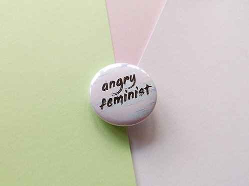 Angry feminist badge
