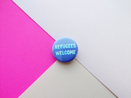 Refugees welcome badge