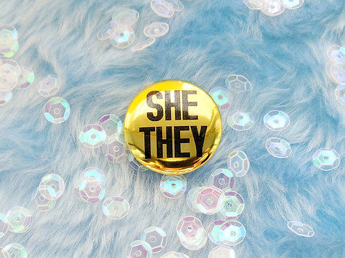 Gold she they pronouns