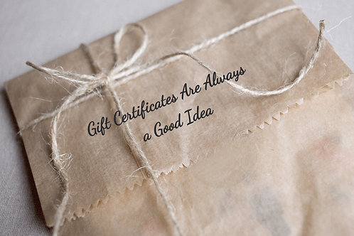 Call to Purchase Gift Certificates