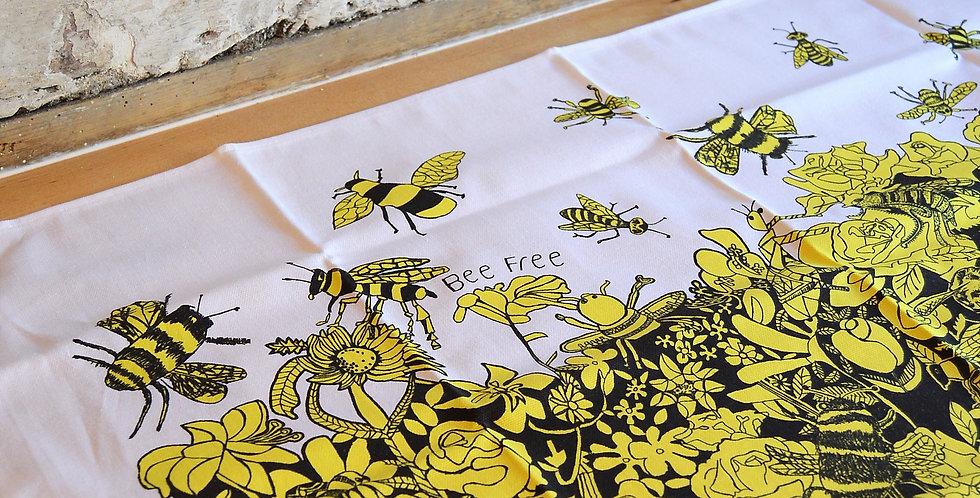 Bee Free Tea Towel