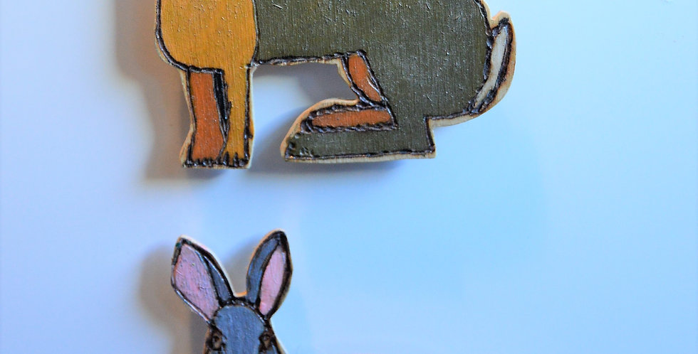 Rabbit Fridge Magnets