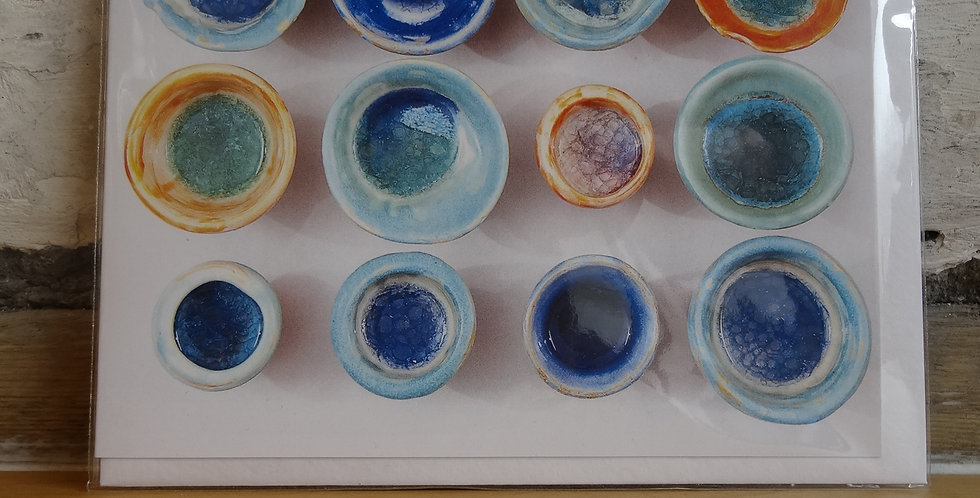 Glazed Pots Greetings Cards