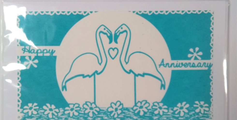 Flamingo Anniversary Card