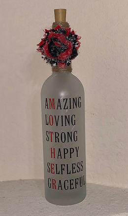 Mother Amazing Loving Strong Happy Selfless Graceful Bottle