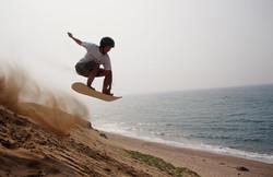 青春にジャンプ、サンドボード