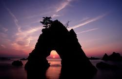 千貫松島の夕景