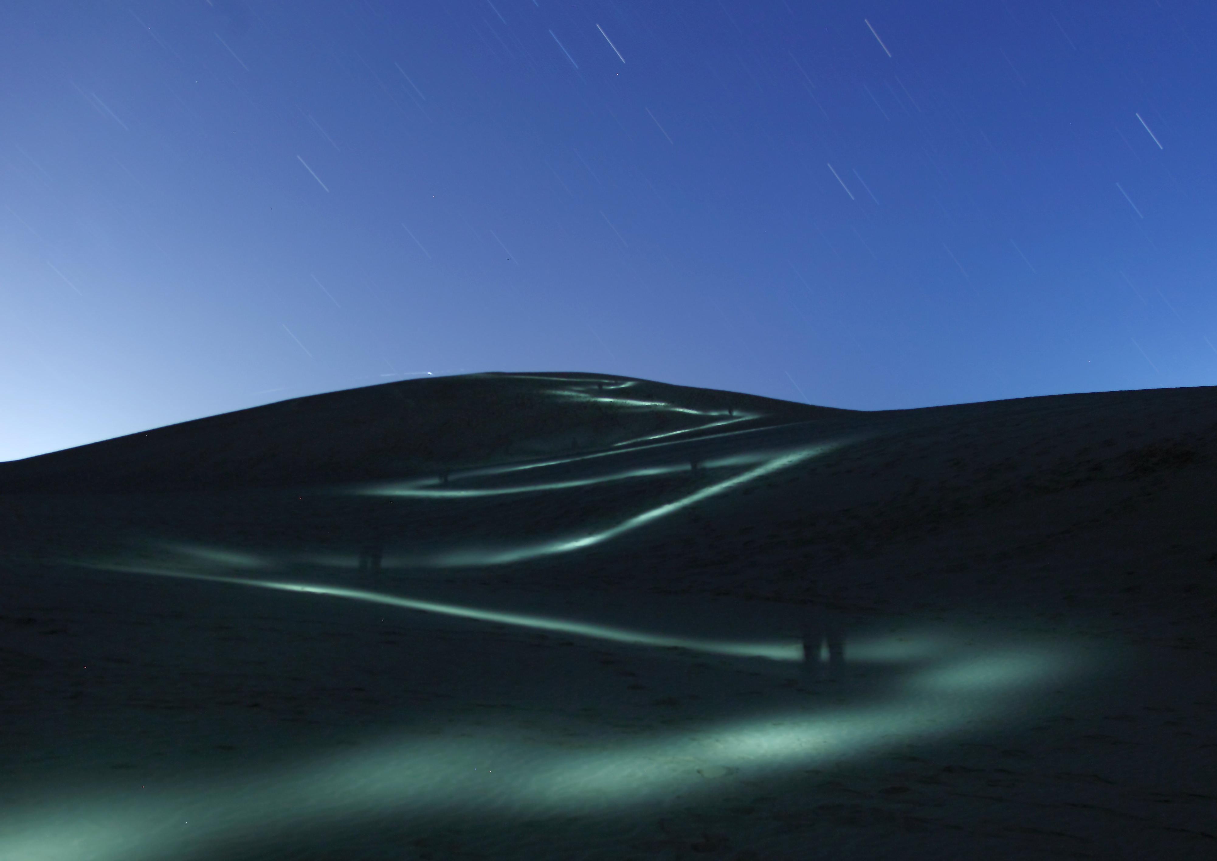 砂丘に登る