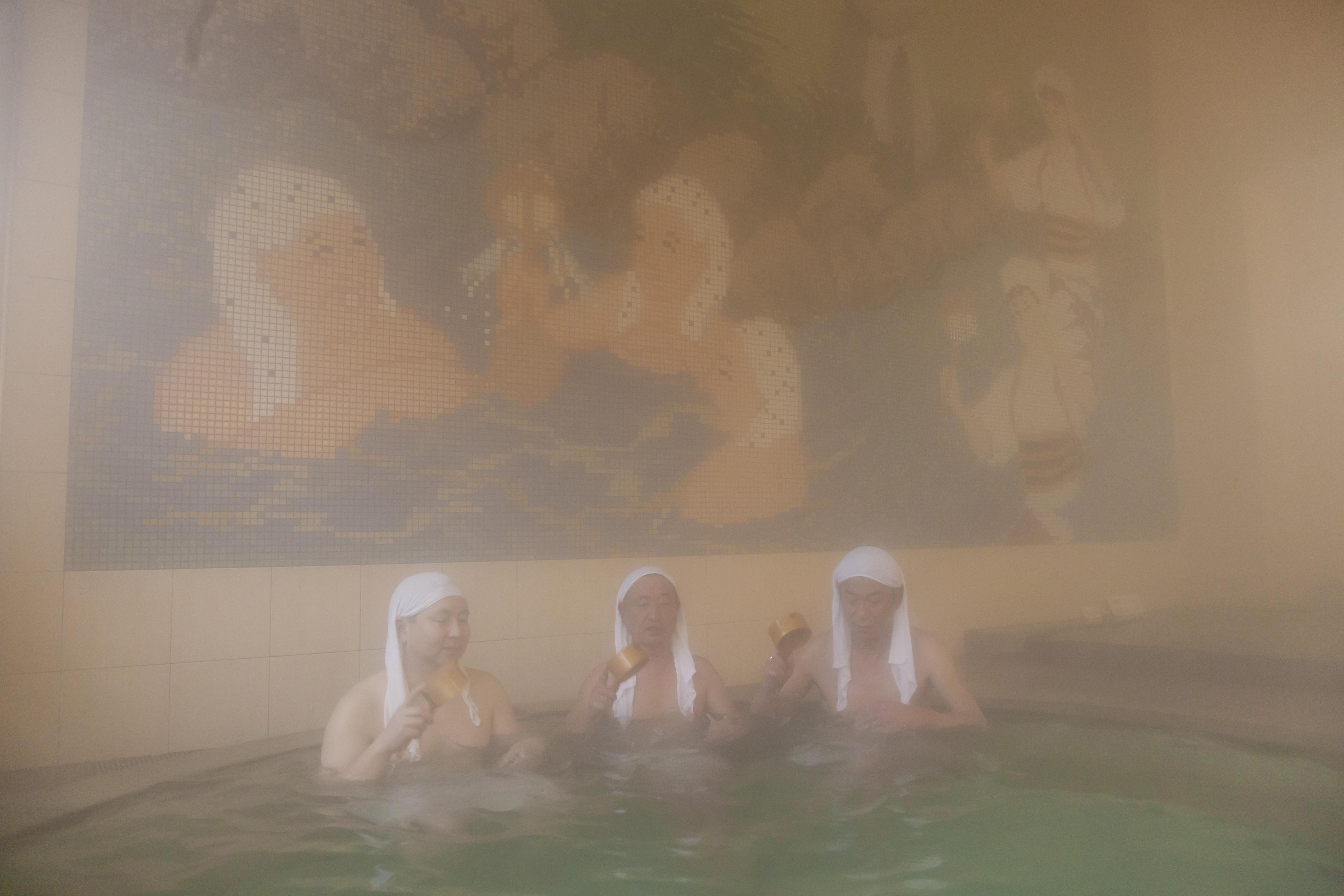 岩井温泉(湯かむり)