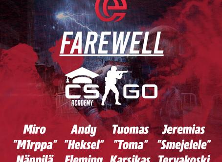 FAREWELL CS:GO ACADEMY TEAM!