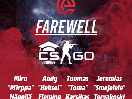 FAREWELL CS:GO ACADEMY TEAM!