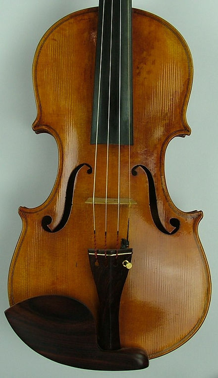one of my 'bench copies' of a CA testore violin, 2007