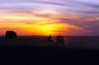 As the sun sets over Maasai Mara...