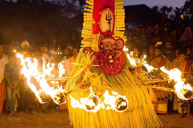 The Ferocity - Fire dance at the Theyyam