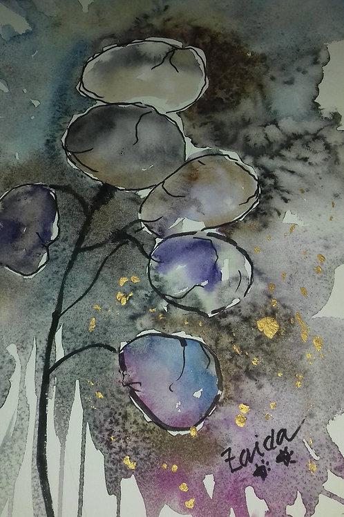 Akvarell av Zaida Larsson