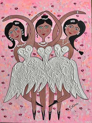 Ballerinor i rosa